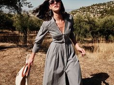 Marios Schwab Returns to Athens—And His Greek Roots—With a Debut Collection for Zeus + Dione | Vogue Silk Jumpsuit, Silk Dress, Cape Dress, Daytime Dresses, Pleated Maxi, Folk Costume, V Neck Blouse, Athens, Mario