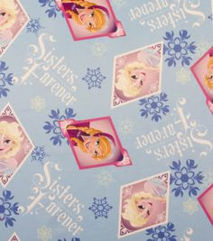 Disney Frozen Sisters Forever Jersey Fabric (and a ton of other Frozen fabrics)