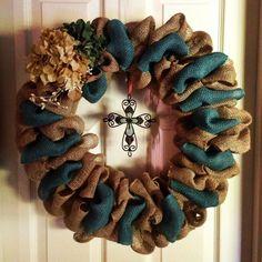 burlap wreaths on pinterest | Burlap wreath