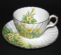 Aynsley Buttercups Teacup and Saucer