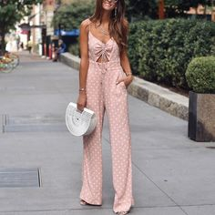 Sexy Pink Sleeveless Wave Point Jumpsuits summer outfits summer outfits women casual summer outfits hot summer outfits cute summer outfits boho summer outfits summer outfits for work summer outfits 2019 summer outfits women Summer Outfits, Cute Outfits, Pink Jumpsuit, Summer Jumpsuit, Overall, Summer Wardrobe, Summer Looks, Jumpsuits For Women, Types Of Fashion Styles