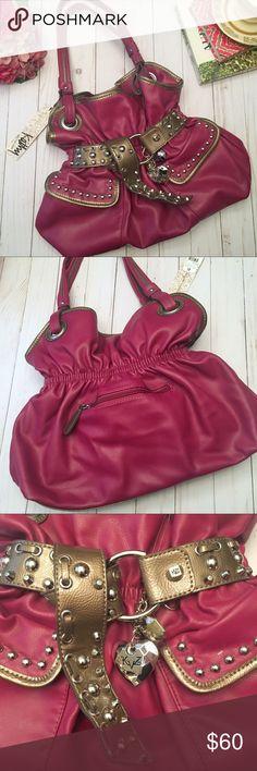 NWT Kathy Van Zeeland Pink Hobo Bag Add a pop of color to your wardrobe  with. Poshmark b365dcedbd