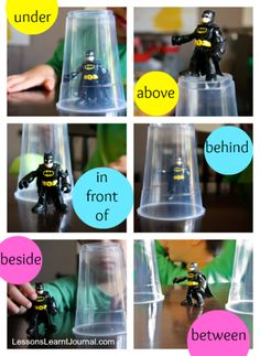I'm going to use a twist on this idea as one of my literacy centers this week.  Students will pick an action figure from my collection and take pictures of that figure in places that demonstrate different prepositional phrases, i.e. under my desk, then they will write the caption for each picture using the correct prepositional phrase.