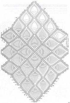 Delicadezas en crochet Gabriela: Servilleta con piña