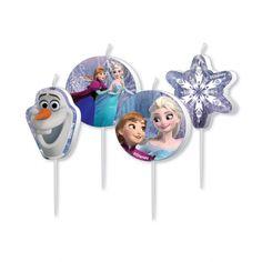 Op je Frozentaart mogen natuurlijk deze frozen kaarsjes niet ontbreken.