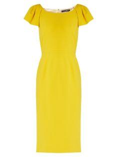 Cap-sleeved cady midi dress  | Dolce