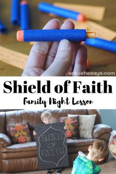 Shield of Faith - Put on the Armor of God Family Night Lesson (she: Adelle) Lds Object Lessons, Fhe Lessons, Bible Study For Kids, Bible Lessons For Kids, Kids Bible, Children's Bible, Preschool Bible, Primary Lessons, Primary Activities