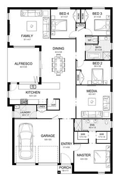 Aspect 28 - Single Level - Floorplan by Kurmond Homes - New Home Builders Sydney NSW