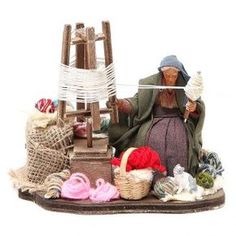 Filalana con attrezzo 12 cm movimento presepe | vendita online su HOLYART Christmas Village Display, Christmas Nativity Scene, Christmas Decorations, Christmas Ornaments, Fantasy House, Casa Fantasy, Nativity Stable, Indian Dolls, Antique Art