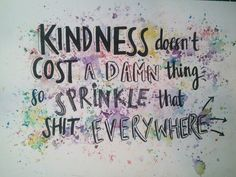 Hand lettering kindness quote
