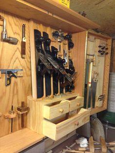 No Frills Wall Hanging Tool Cabinet.
