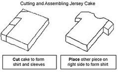 How to cut a shirt cake. Great for a football cake Hockey Cakes, Soccer Cake, Rugby Cake, Hockey Birthday Parties, Football Birthday, Birthday Cake, Cake Decorating Techniques, Cake Decorating Tutorials, Fondant Cakes
