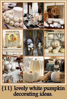 Excellent mix of traditional and modern fall decorating ideas