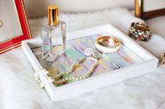 DIY decorative tray made from a basic picture frame- TUTORIAL: hacer una bandeja con un marco de cuadros