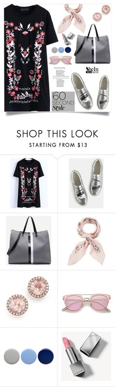 """""""60-Second Style: The T-Shirt Dress, shein!"""" by samra-bv ❤ liked on Polyvore featuring WithChic, Manipuri, Dana Rebecca Designs, Burberry, tshirtdresses and 60secondstyle"""