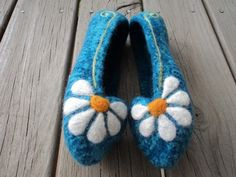 Summer Slippers Felted Knit