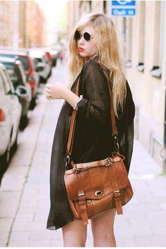 dark brown satchel Wera bag