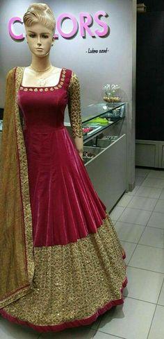 Buy Maroon embroidered cotton silk salwar with dupatta Online Anarkali Dress, Pakistani Dresses, Indian Dresses, Lehenga Choli, Indian Outfits, Sharara, Shalwar Kameez, Anarkali Suits, Churidar