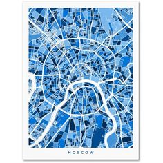 Trademark Fine Art Moscow City Street Map II Canvas Art by Michael Tompsett, Size: 24 x 32, Multicolor