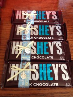hershey bar baby shower favors