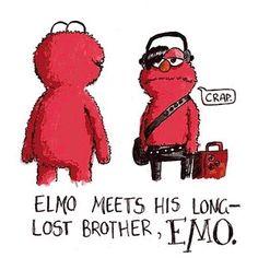 Carmen's Adventures  In  Parenting: Funny eCards and Funny Pics: Emo Elmo