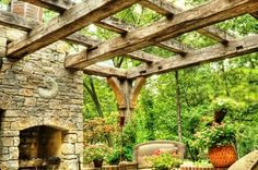 Pergola Reclaimed Beams Outdoor Fireplace Taggstone Dallas Landscaping Supplies & Outdoor Living