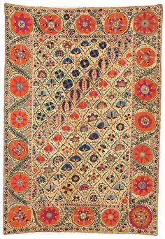Shakhrisyabz Suzani embroidery, Uzbekistan, mid 19th c.