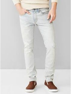 1969 skinny fit jeans (sunfade bleach wash)   Gap