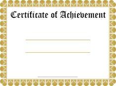 Graduation Certificate Template Free Certificate Template  Certificates  Pinterest  Certificate .