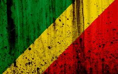 Download wallpapers Congosolian flag, 4k, grunge, flag of Congo, Africa, Republic of the Congo, national symbols, Congo national flag