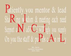 Teacher Gifts Personalized Gifts for Principals by LarkRoadRhymes