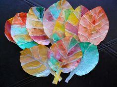 Sempre criança:  Recortar as folhas em filtros de café, fazer os v...