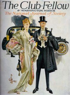 1904 The Club-Fellow & Washington Mirror by J. C. Leyendecker