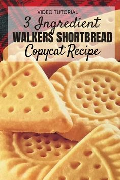 Copycat Walkers Shortbread Recipe 3 Ingredients | The WHOot Walkers Cookies, Walkers Shortbread Cookies, Buttery Shortbread Cookies, Shortbread Biscuits, Mary Berry Shortbread, Shortbread Scottish, Shortbread Recipes, Crack Crackers, Shortbread Cookies