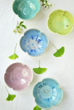 flower bowls from Lee Wolfe Pottery $16.00 >> These are just wonderful!