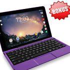 "2017 Tablet Laptop 11.5"" Screen 2 in 1 Quad Processor Intel 32GB Purple Keyboard"
