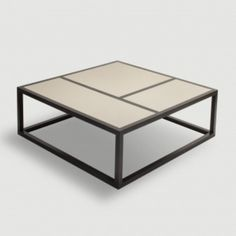 Beige Leather Style Coffee Table with Wenge Base – Allissias Attic & Vintage French Style