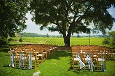 ribbon ceremony decor for a rustic wedding (JL Photografia)
