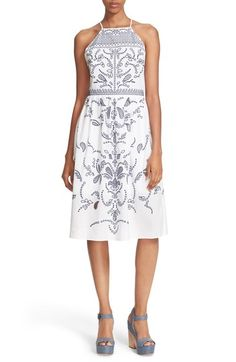 Parker 'Alana' Embroidered Fit & Flare Dress available at #Nordstrom