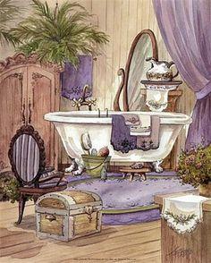 Imágenes decoupage baño | Aprender manualidades es facilisimo.com
