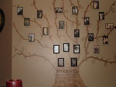Family tree painted on a wall