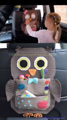 Make this adorable crochet car organizer of an owl or bear! Etsy find affiliate … Make this adorable crochet car organizer of an owl or bear! Fun pattern to make Wandleuchten Videos Crochet Car Organizer Crochet Diy, Crochet Amigurumi, Crochet Baby Shoes, Crochet For Kids, Crochet Crafts, Crochet Projects, Sewing Projects, Crochet Ideas, Sewing Ideas
