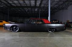 Lincoln : Continental custom, hotrod, bagged, slab, lowrider, cadillac 1964 custom, flat black, lincoln continental, suicide doors, audio system - http://www.legendaryfind.com/carsforsale/lincoln-continental-custom-hotrod-bagged-slab-lowrider-cadillac-1964-custom-flat-black-lincoln-continental-suicide-doors-audio-system/
