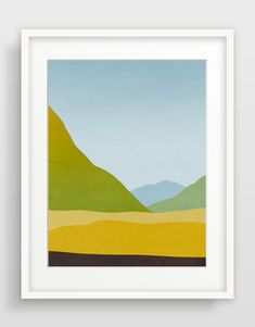 Mountain Art Landscape Art Print Large Wall Art Modern by evesand