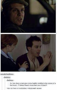 """sherlock, moriarty (y) """"iT's NeVeR tWiNs"""" my arse Johnlock, Destiel, Sherlock Fandom, Sherlock Holmes, Sherlock Quotes, Sherlock John, Watson Sherlock, Sherlock Humor, Mrs Hudson"""