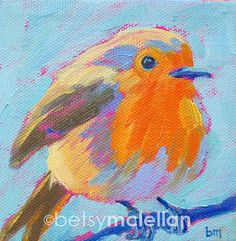 European Robin - Bird Art - Giclee Print