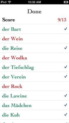 apps zum deutsch lernen on pinterest deutsch gender quiz and learn german. Black Bedroom Furniture Sets. Home Design Ideas