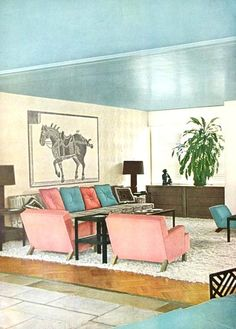 Modern Hollywood home of Mr. and Mrs. William Goetz. Vogue April 1949