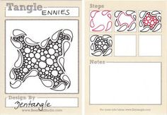 BEEZ in the Belfry: Tangle of the Week - Ennies such a great way to document how to construct a tangle