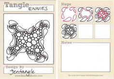 Zentangle pattern Ennies